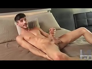 cute guy with hot naked body