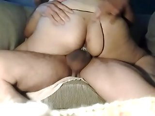 Pregnant girlfriend riding my dick with her creamy ass wet pussy till i cum inside her pussy