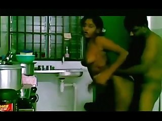 Indian girl has sex in the kitchen