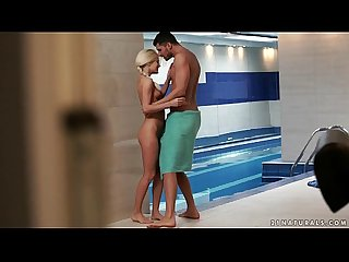 Candee licious footjob by the pool