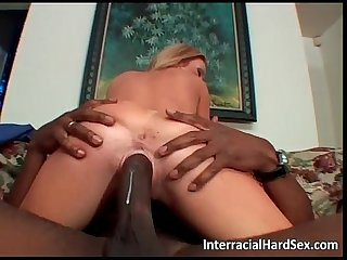 Tremendous black cock for a blonde babe