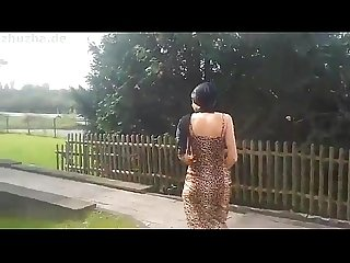 Muslim tribal beauty blowjob swallows 20 cum swallow sperm outdoor