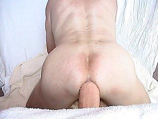 Huge dildo anal sex