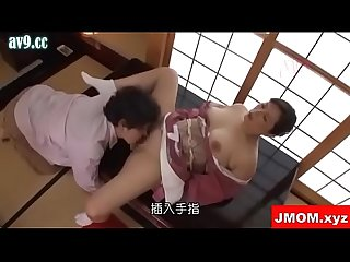 Japanese mother fucking in kimono with son
