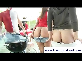 College girls slut it up at event