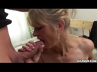 Gilf brutally anal fucked like there is no tomorrow
