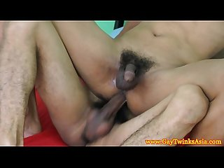 Korean twink riding a camboian dick