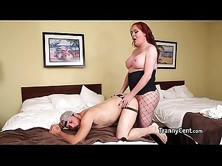 Perv tranny bangs dude then takes cock