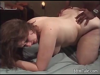 Bbw milf gets dp sex with black guys who