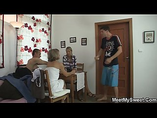Hot oral family threesome