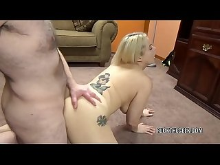 Blonde hottie Nadia White is getting fucked by a lucky geek