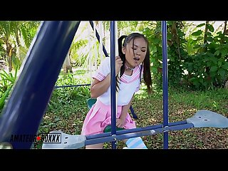 Amateur Boxxx - Asian School Girl Masturbates in Playground