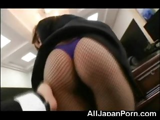 Teen japanese secretary