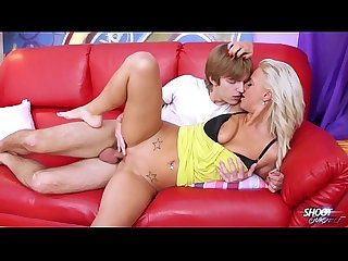ShootOurSelf Blonde busty sexbomb Nathaly fucked on sofa hard and love it