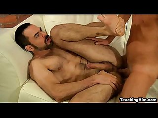 Mature hunk dolan Wolf gets fucked hard by a Twink