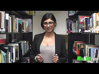 Mia Khalifa plays in the library 6 92
