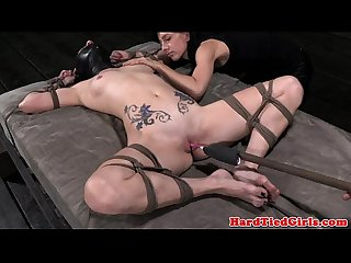 Tied up veruca james dildo fucked