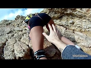 Myfirstpublic instructor of climbing fuck her student by the sea