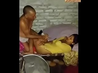 Hot Indian young wife fucked by old man