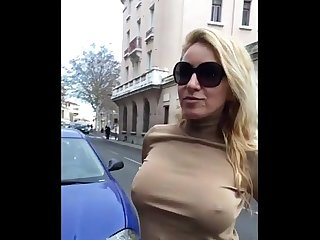 Dirty and flashing in public in barcelona