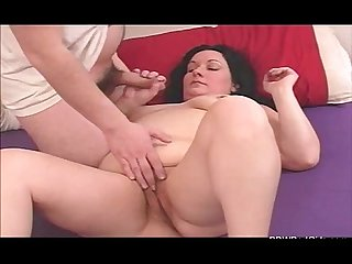 BBW Mom Jerks Off Son