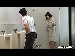 Brainwashed asian nympho hunts for cocks in the public Toilet