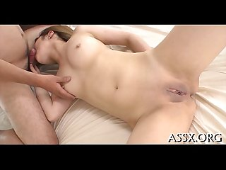 Excellent japanese anal riding