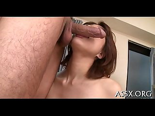 Stimulating oriental anal with vegetables