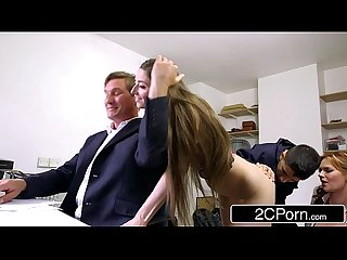 Sneaky Skinny Bastard Fucks Boss\'s Wife and Daughter - Tarra White, Leyla Morgan