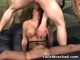 Brook Ultra Getting Cock Shoved All The Way Down Her Throat