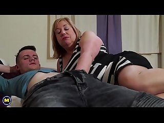 British chubby mature slut auntie trisha doing her toyboy