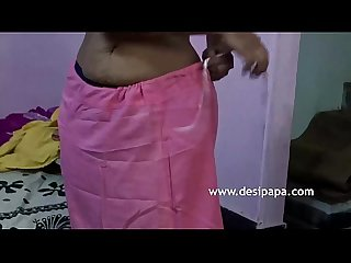 Desi indian wife in bedroom changing desipapa com