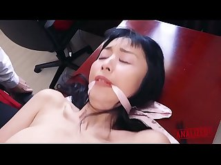 Japanese Sex slave marica comes out of The closet for some rough anal punishment featuring colon mar