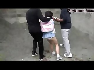 Rhythmvideos the japanese girl are prey of black people 1