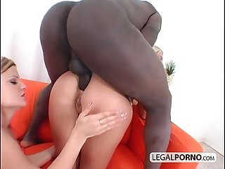 2 Hot blondes and a big black cock having a threesome gb 15 02