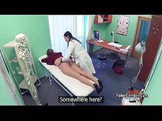 Lesbian action in hospital office