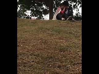 Indian lover kissing in park part 4