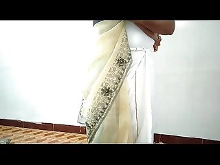 Desi village wife change saree husband's friend recording fucking with her cuckold