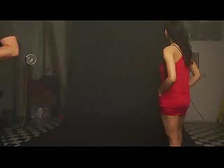Indian college girl shanaya striptease red skirt