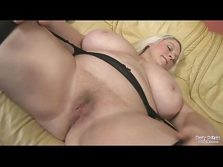 Fat blonde 50 big tits