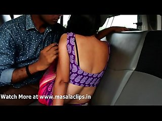 Desi couples hot romance in car video