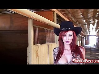 Kinky Cowgirl Shanda Fay Fucks in the Barn!