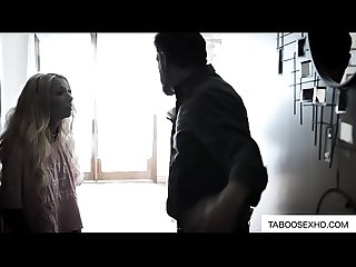 Daughter get ass spank by her Stepfather