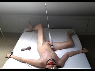 Boy has fun and cums with a vibrator