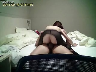 Chinese black stocking girl fuck at hotel