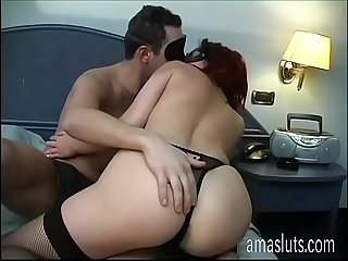 Real amateur couple in mask having sex