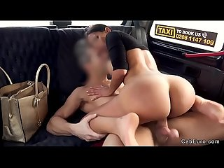 Big ass Columbian hottie fucks in fake taxi