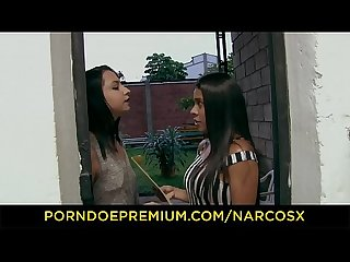 NARCOS X - Hot Colombian teen babe in fishnet banged raw
