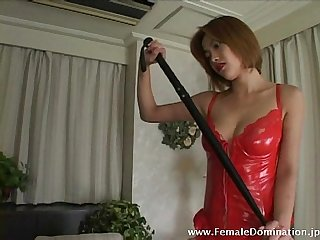 Mistress is fierce as she slashes her slave's back endlessly