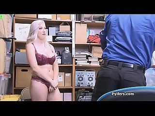 Security guard tit and pussy fucks big tit pilfer